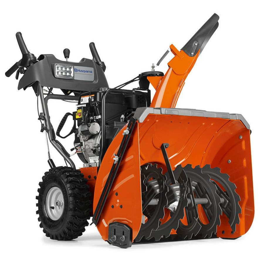 Husqvarna 291-cc 27-in Two-Stage Electric Start Gas Snow Blower with Heated Handles and Headlight