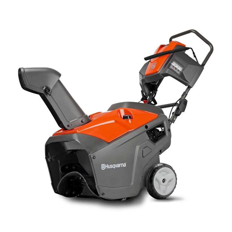 Husqvarna 100 Series 208-cc 21-in Single-Stage Electric Start Gas Snow Blower and Headlight