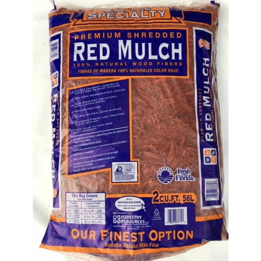 Forestry Resource Landscape 2-cu ft Red Bagged Mulch