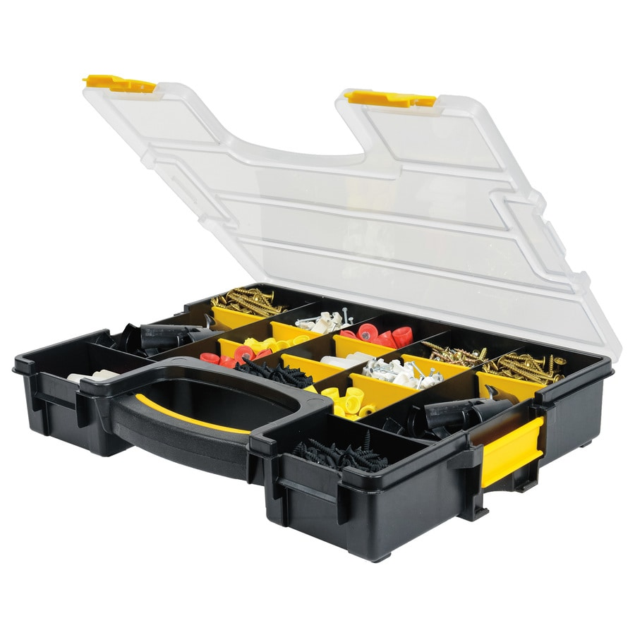 Shop Stack On 15 Compartment Plastic Small Parts Organizer