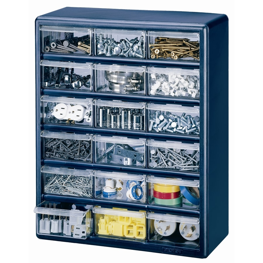 Superieur Stack On 15 In X 18.5 In 18 Blue Plastic Drawer