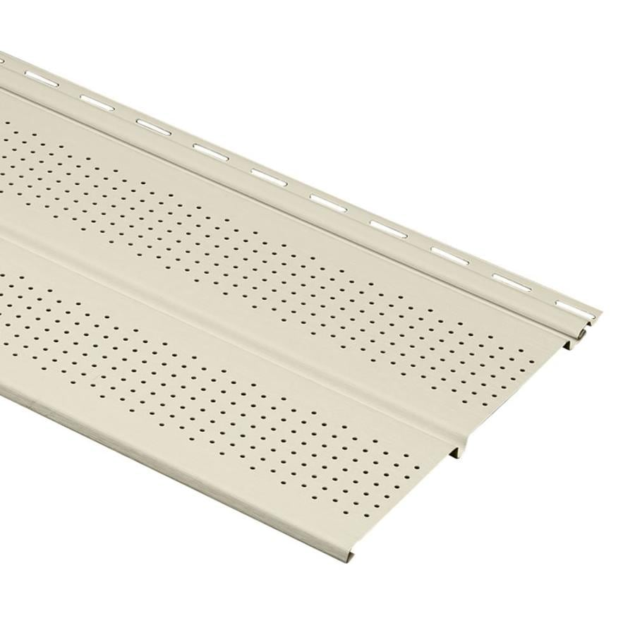 Durabuilt 10-in x 144-in Cream Soffit