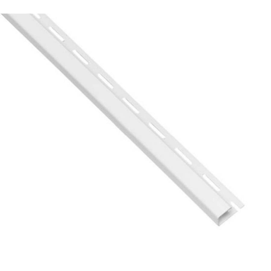 Vinyl Siding Trim J-Channel White 0.625-in x 150-in