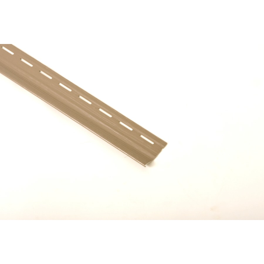 2.5-in x 122-in Brown Vinyl Siding Starter Strip