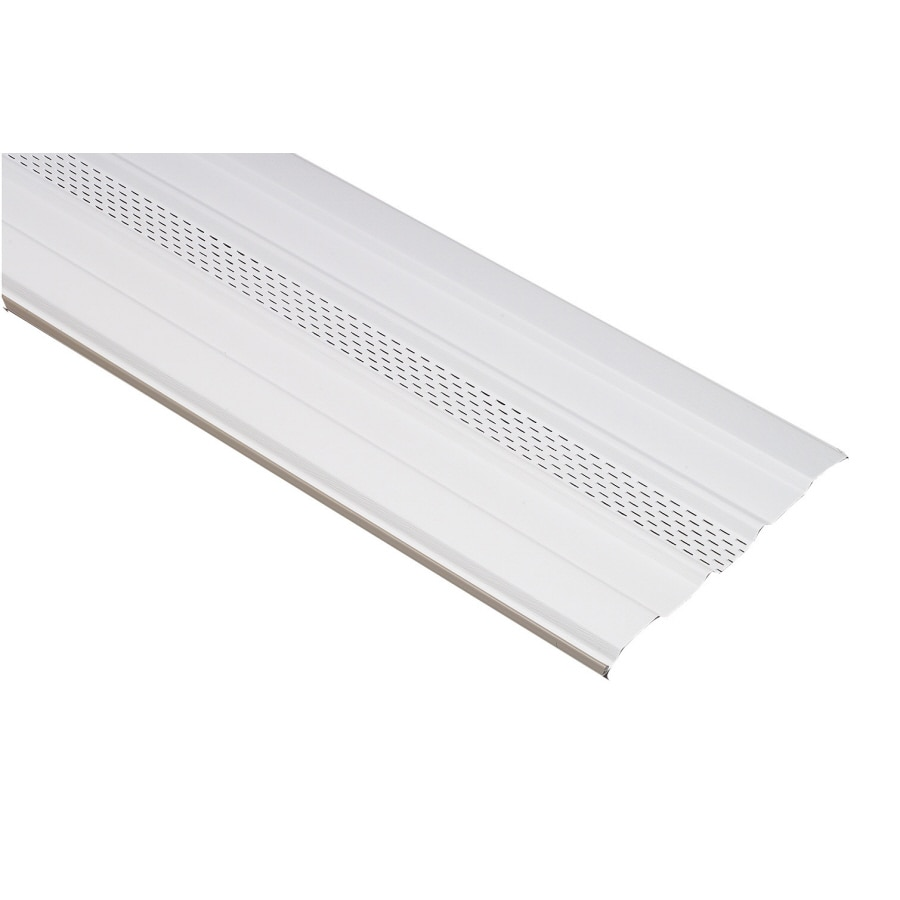 Shop 16.75-in x 11.9791-ft White Vinyl Skirting Panel at Lowes.com