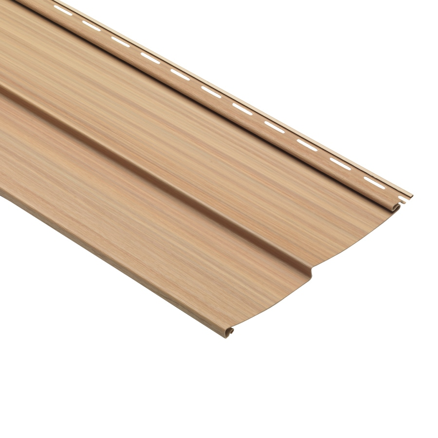 Traditional Oak Vinyl Siding Panel 10-in x 120-in