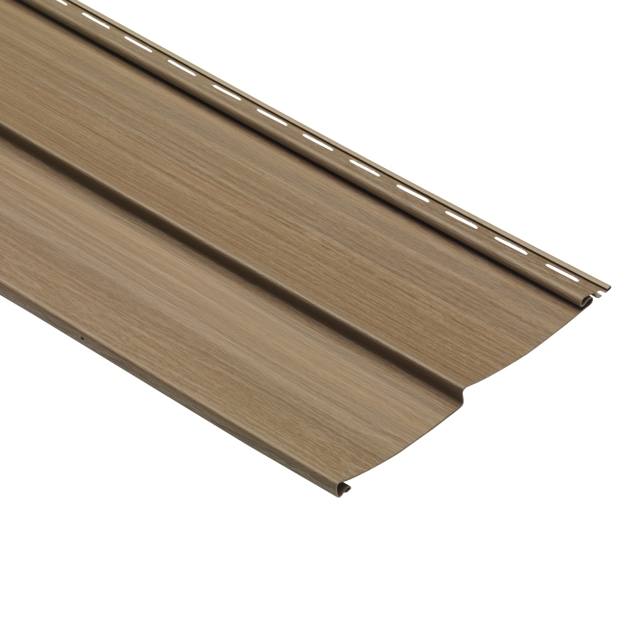 Traditional Chestnut Vinyl Siding Panel 10-in x 120-in
