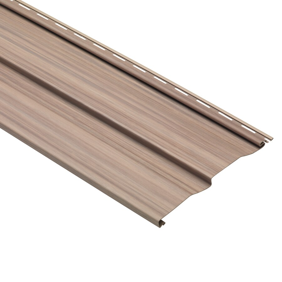 Dutch Lap Cherry Vinyl Siding Panel 9-in x 121-in