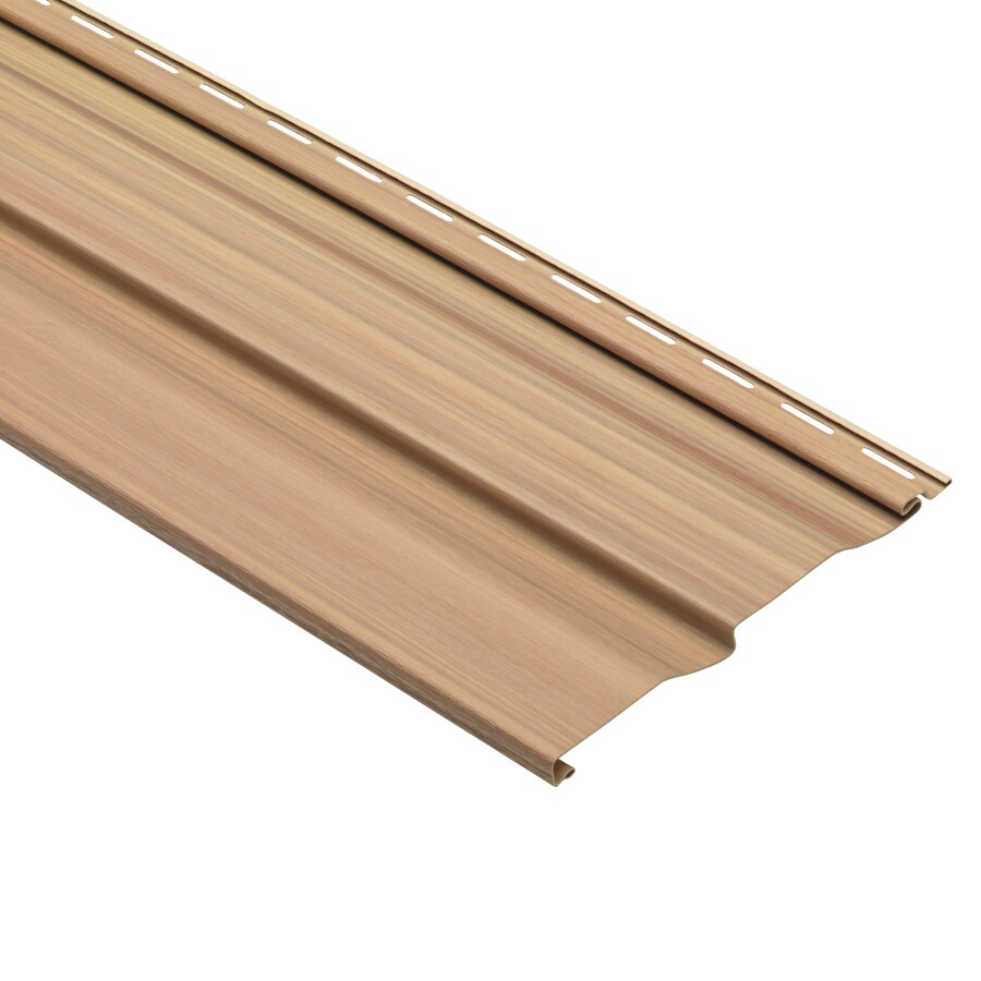 Shop Dutch Lap Oak Vinyl Siding Panel 9 In X 121 In At