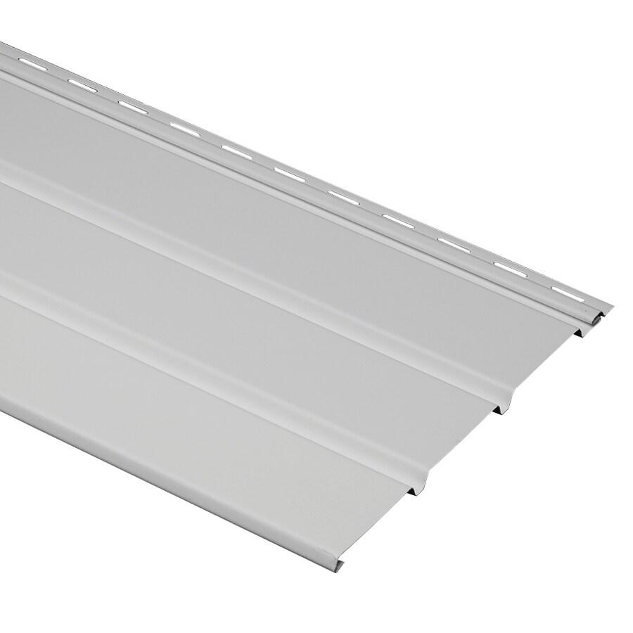 Durabuilt 12-in x 144-in 910 Gray Vinyl Solid Soffit