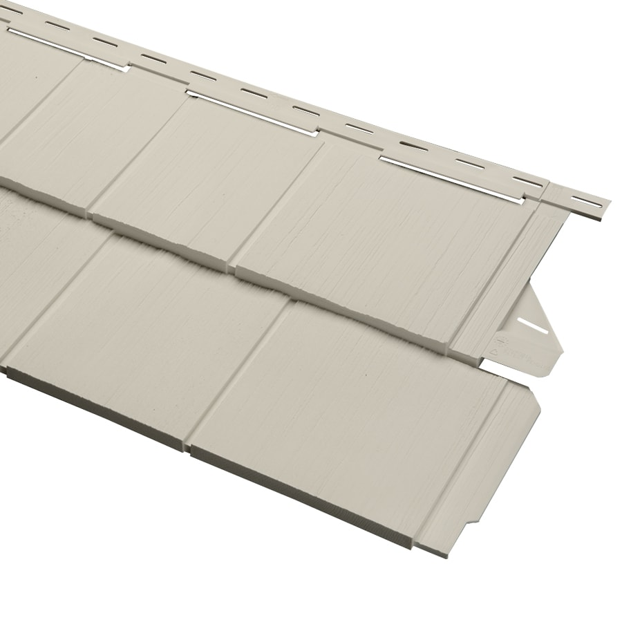 Almond Vinyl Siding Panel 14-in x 67.5-in