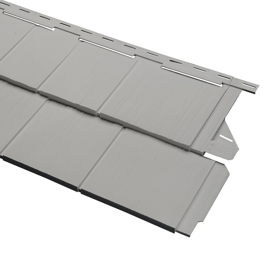 Pewter Vinyl Siding Panel 14-in x 67.5-in
