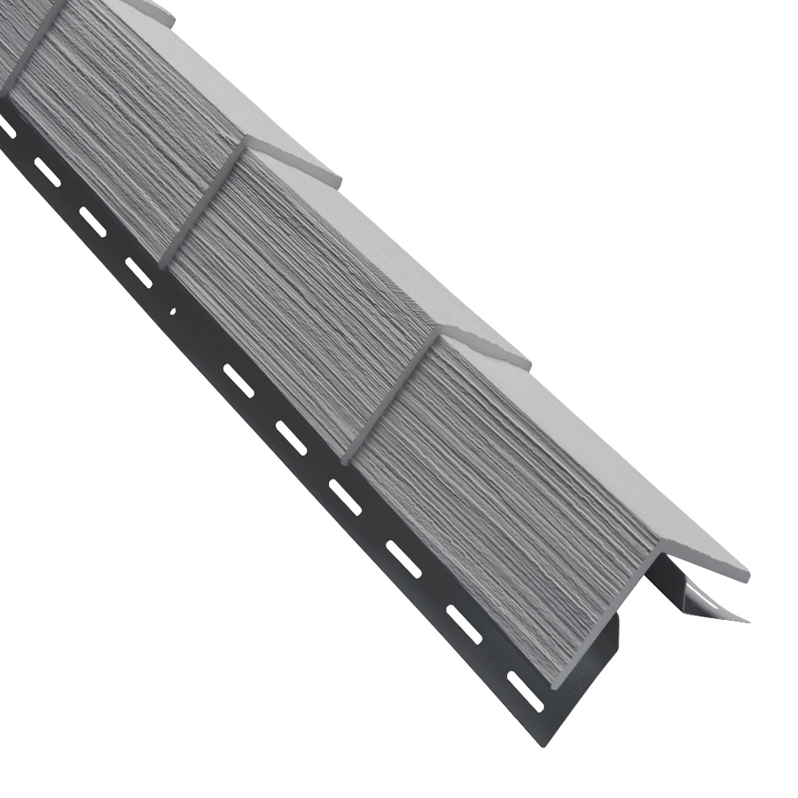 3.5-in x 29.125-in Pewter Outside Corner Post Vinyl Siding Trim