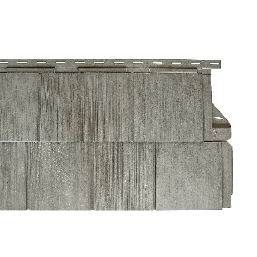 Gray Shade Vinyl Siding Panel 14-in x 67.5-in
