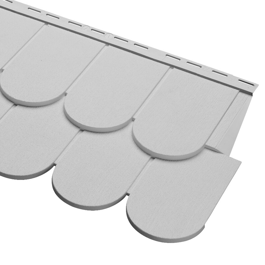 Cedar Spectrum Scallop Gray Vinyl Siding Panel 16.375-in x 54.75-in