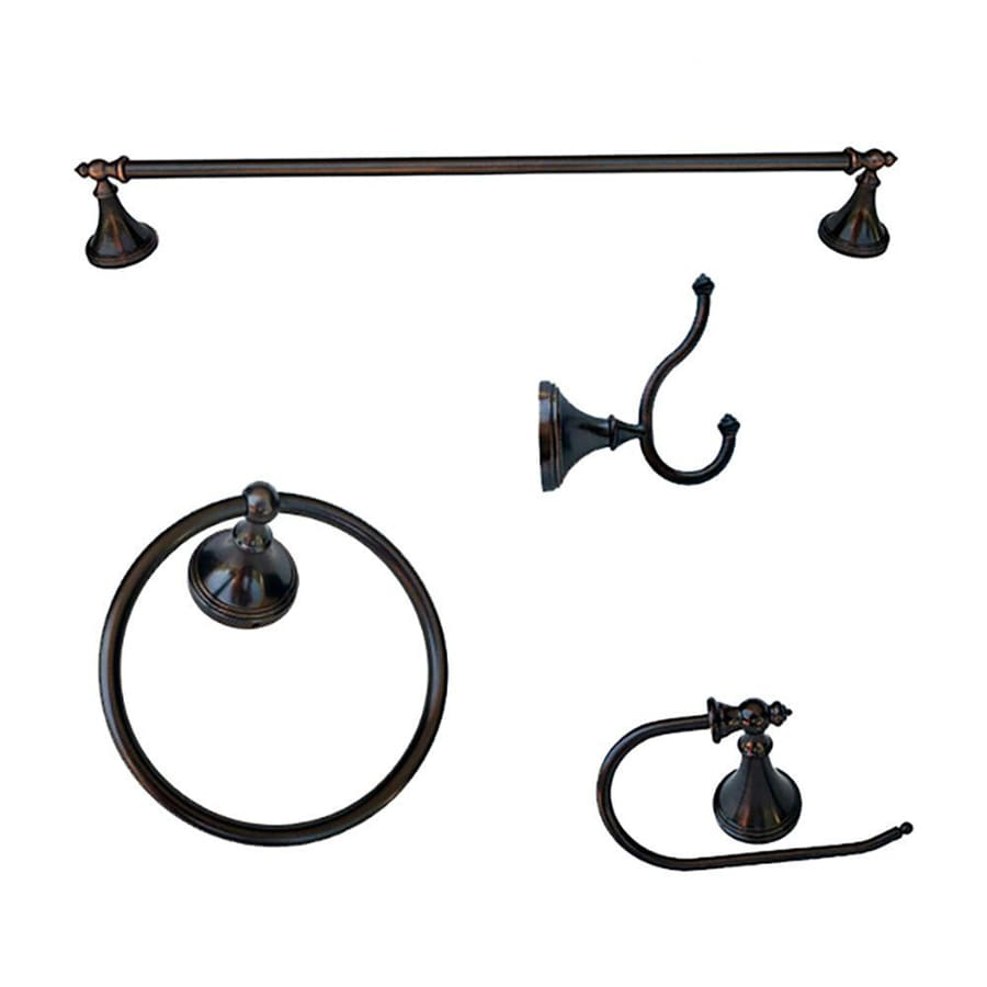Shop arista 4 piece annchester oil rubbed bronze Oil rubbed bronze bathroom hardware