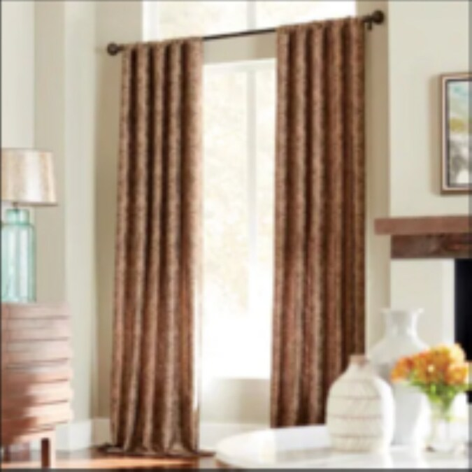 Allen Roth Raja 84 In Mocha Polyester Light Filtering Standard Lined Single Curtain Panel In The Curtains Drapes Department At Lowes Com