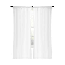 Style Selections Energy 80-in White Polyester Blackout Curtain Panel Pair