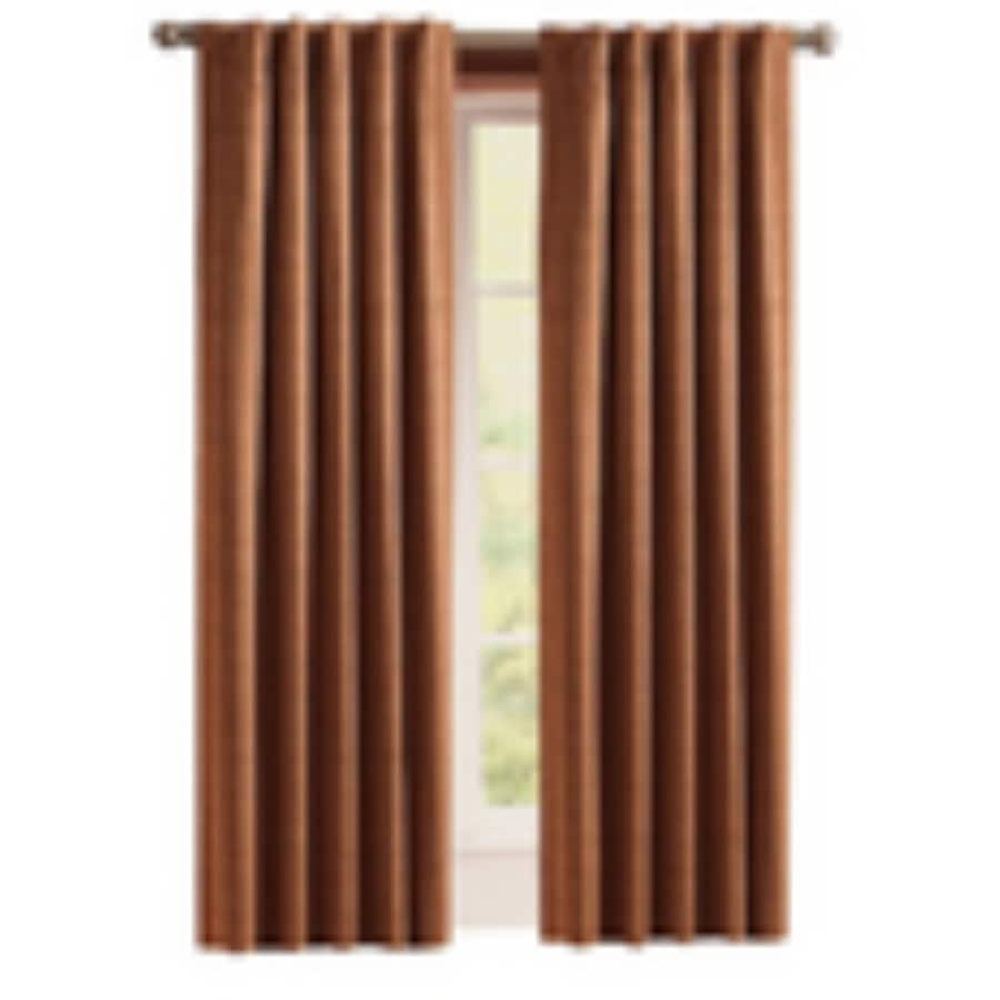 Style selections roberta 84 in brick polyester back tab room darkening thermal lined single curtain