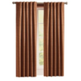 Style Selections Roberta 84-in Brick Polyester Room Darkening Thermal Lined Single Curtain Panel