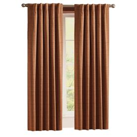 Style Selections Roberta 63-in Brick Polyester Room Darkening Thermal Lined Single Curtain Panel