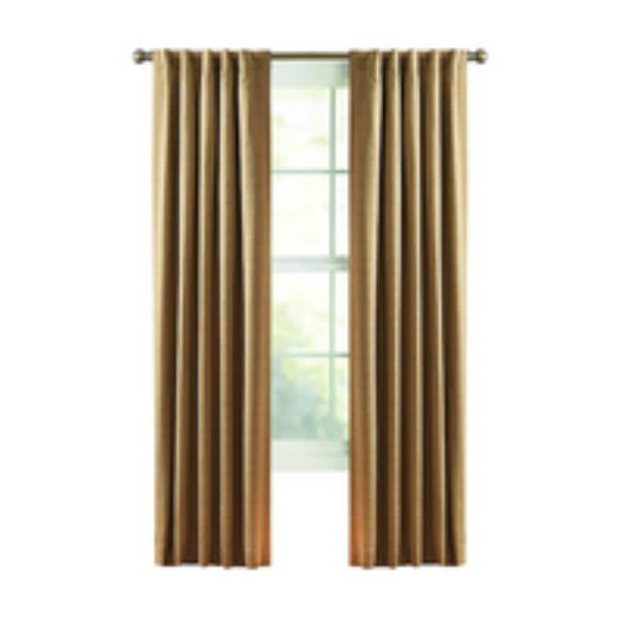 Style Selections Roberta 63 In Natural Polyester Back Tab Room Darkening Thermal Lined Single Curtain