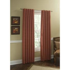 Style Selections Roberta 63-in Natural Polyester Room Darkening Thermal Lined Single Curtain Panel