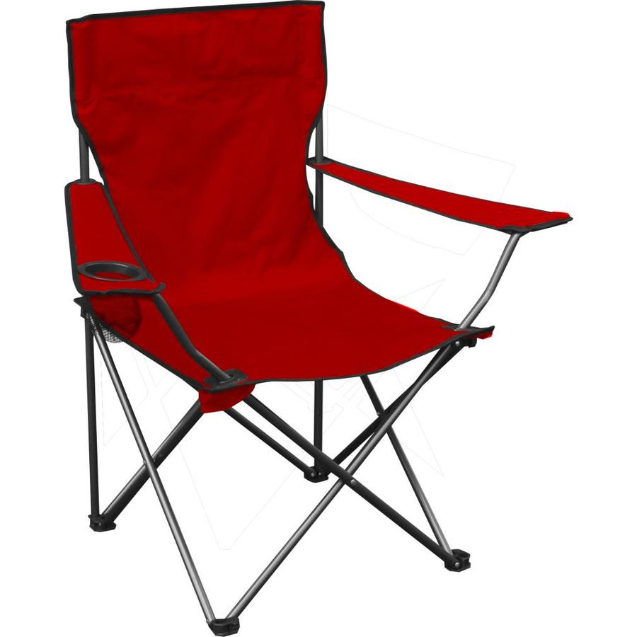 Quik Shade Red Folding Camping Chair At Lowes Com