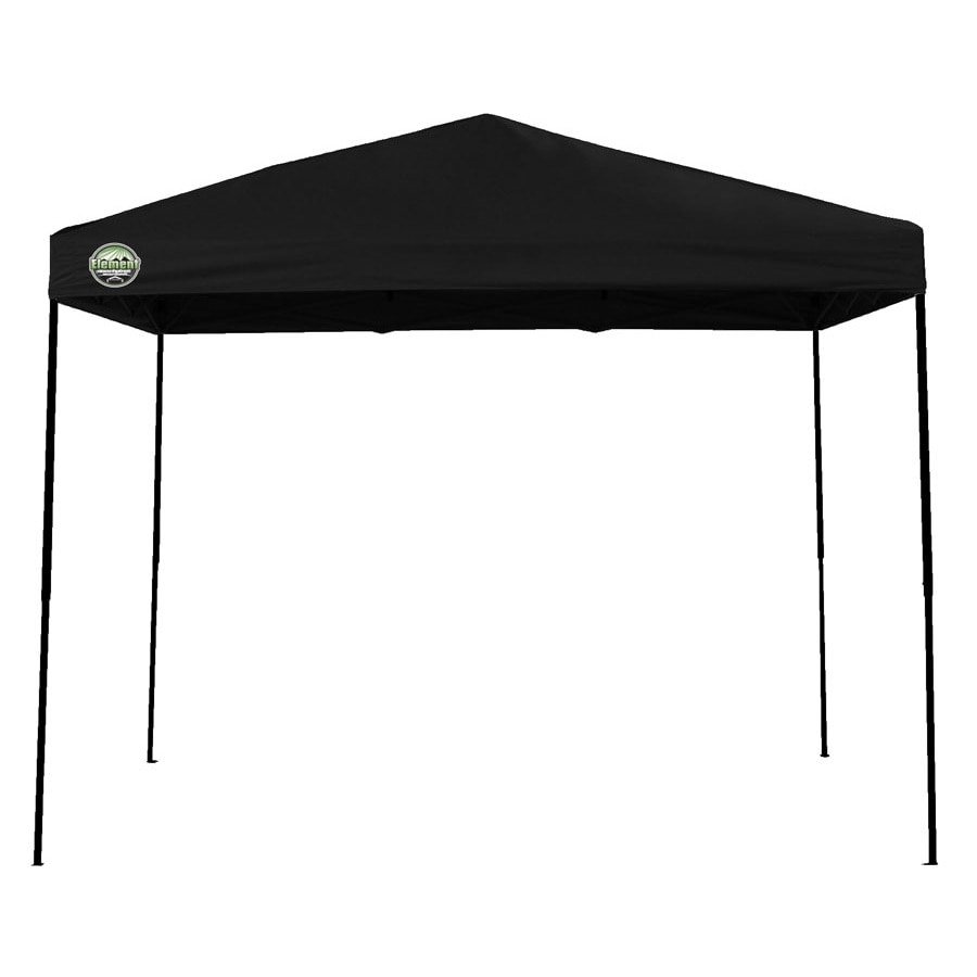 Shade Tech 8-ft W x 10-ft L Retangular Black Steel Pop-Up Canopy