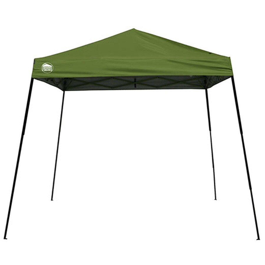 Shade Tech 10-ft W x 10-ft L Square Green Steel Pop-Up Canopy Canopy