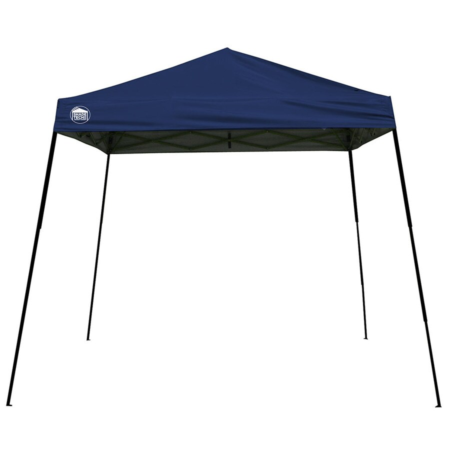 shop shade tech 10-ft w x 10-ft l square midnight blue steel pop