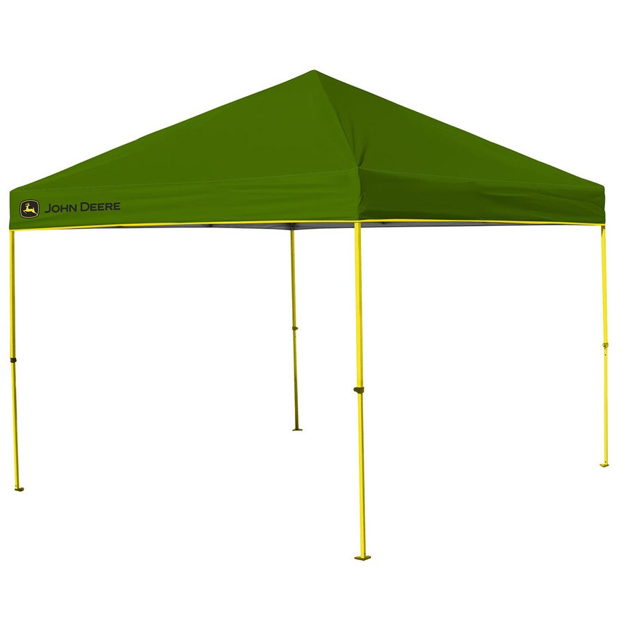 John Deere 10.8-ft W x 10.8-ft L Square Green Steel Pop-  sc 1 st  Loweu0027s & Shop John Deere 10.8-ft W x 10.8-ft L Square Green Steel Pop-Up ...