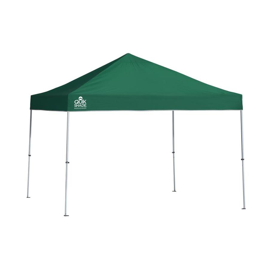 Quik Shade 10.8-ft W x 10.8-ft L Square Green Steel Pop-Up Canopy
