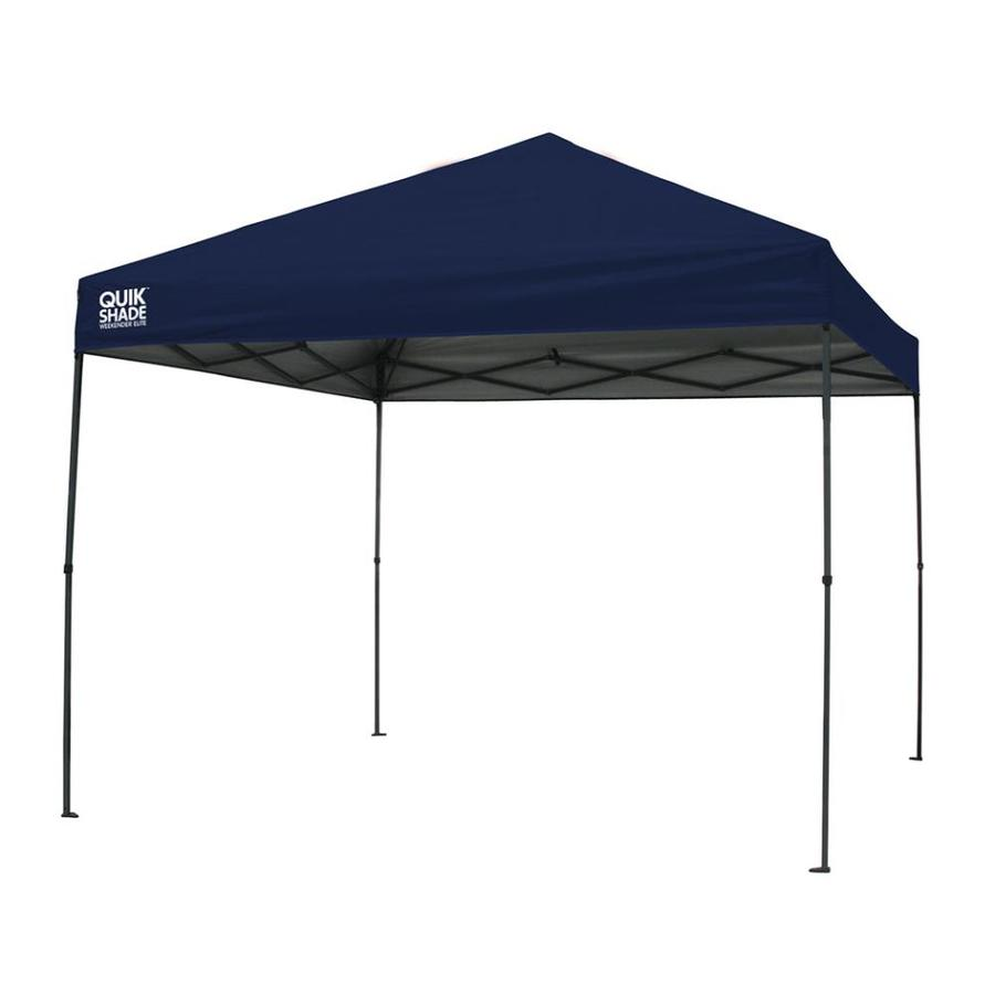 Quik Shade 10.8-ft W x 10.8-ft L Square Navy Blue Steel Pop-Up Canopy