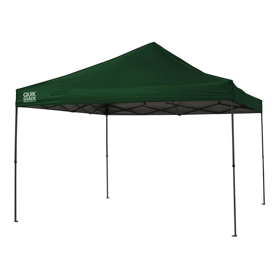 Quik Shade 12.1-ft W x 12.1-ft L Square Green Steel Pop-Up Canopy