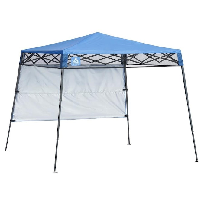 Quik Shade 7 08 Ft L Square Blue Pop Up Canopy In The Canopies Department At Lowes Com