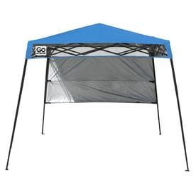 Z-Shade 10-ft L Square Blue Pop-Up Canopy at Lowes com
