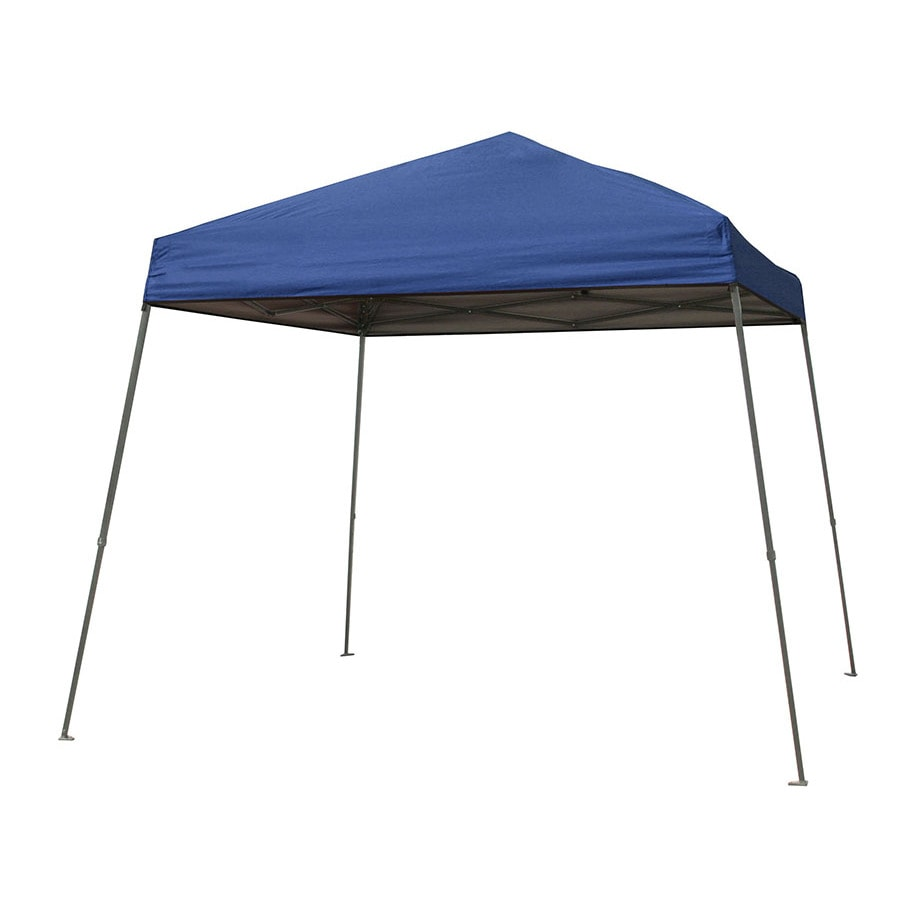 Garden Treasures 10-ft W x 10-ft L Square Blue Steel Pop-  sc 1 st  Loweu0027s : patio tent cover - memphite.com