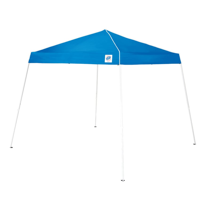 EZ-Up 10-ft W x 10-ft L Square Royal Blue Steel  sc 1 st  Loweu0027s & Shop EZ-Up 10-ft W x 10-ft L Square Royal Blue Steel Pop-Up Canopy ...