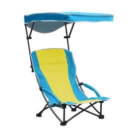Quik Shade Blue And Yellow Folding Beach Chair