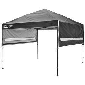 Quik Shade Solo Steel 10 75 Ft W X 10 75 Ft L Square Black Steel