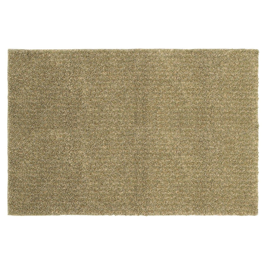 Mohawk Home Aurora Shag Beige Rectangular Indoor Tufted Throw Rug (Common: 2 x 4; Actual: 30-in W x 50-in L)