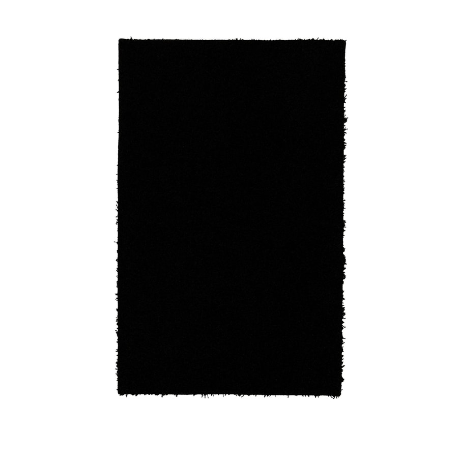 Mohawk Home Piper Shag Black Rectangular Black Transitional Tufted Area Rug (Common: 5-ft x 8-ft; Actual: 5-ft x 8-ft)