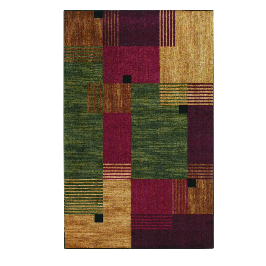 Mohawk Home Alliance Multi Multi Rectangular Indoor Tufted Area Rug (Common: 5 x 8; Actual: 5-ft W x 8-ft L x 0.5-ft Dia)