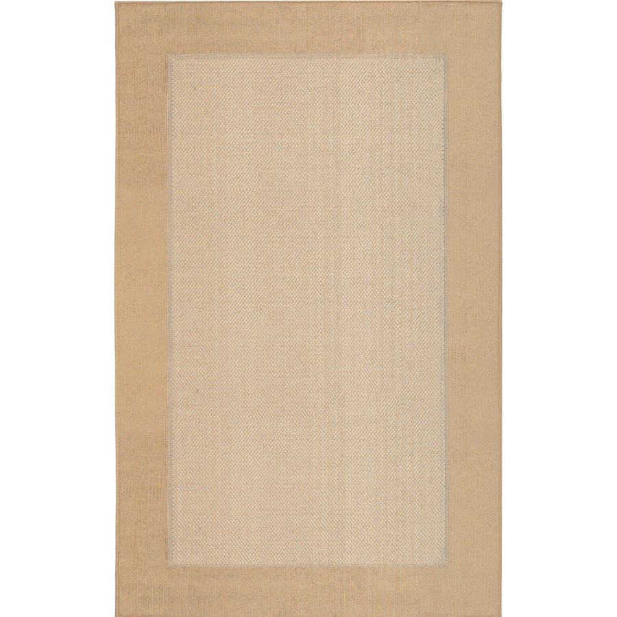 Mohawk Home Field Kingsgold Ivory Rectangular Indoor Tufted Throw Rug (Common: 2 x 3; Actual: 1.8333-ft W x 3-ft L x 0.5-ft Dia)