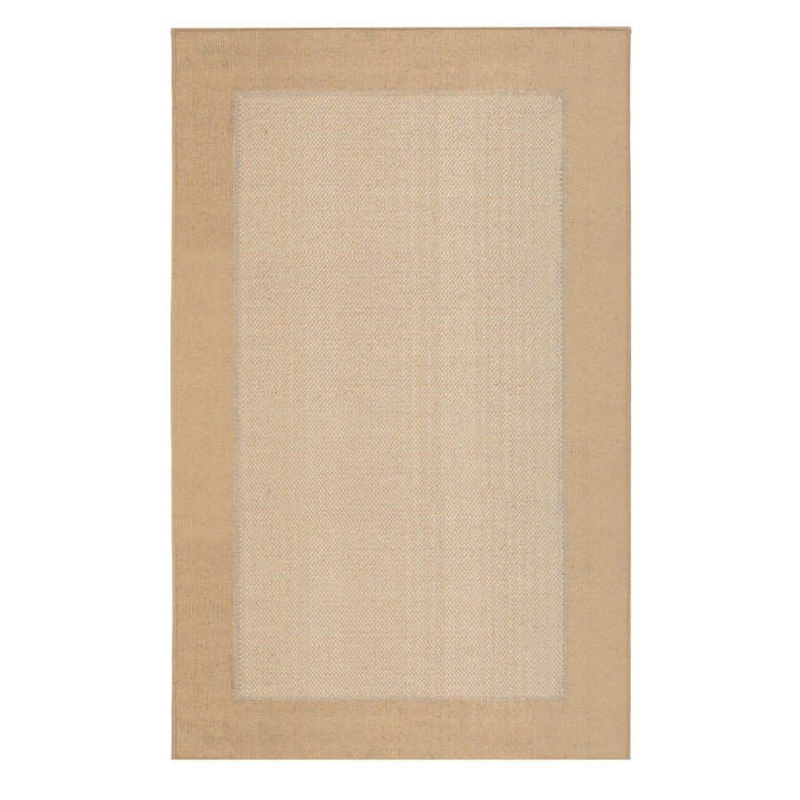 Mohawk Home Field Kingsgold Ivory Rectangular Indoor Tufted Area Rug (Common: 5 x 7; Actual: 5-ft W x 7-ft L x 0.5-ft Dia)