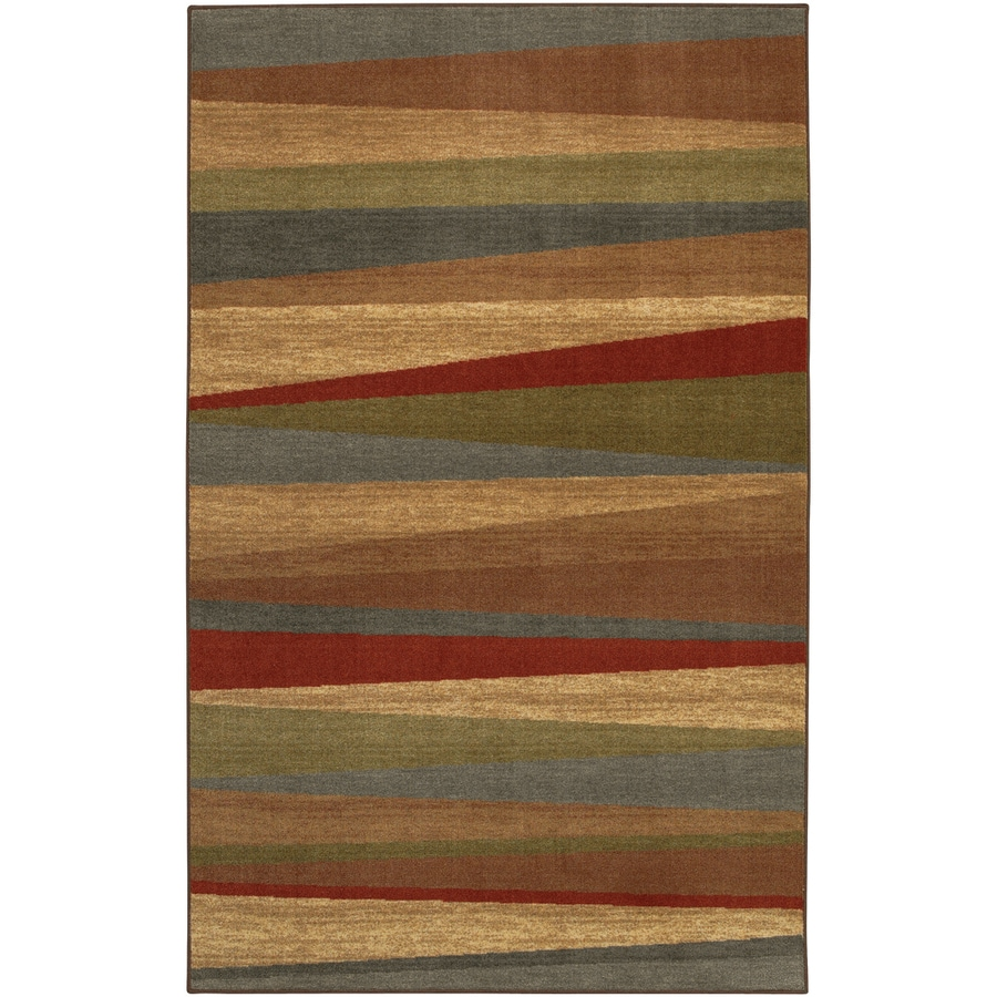 Mohawk Home Hourglass Wave Multi Rectangular Red Transitional Tufted Area Rug (Common: 5-ft x 8-ft; Actual: 5-ft x 8-ft)