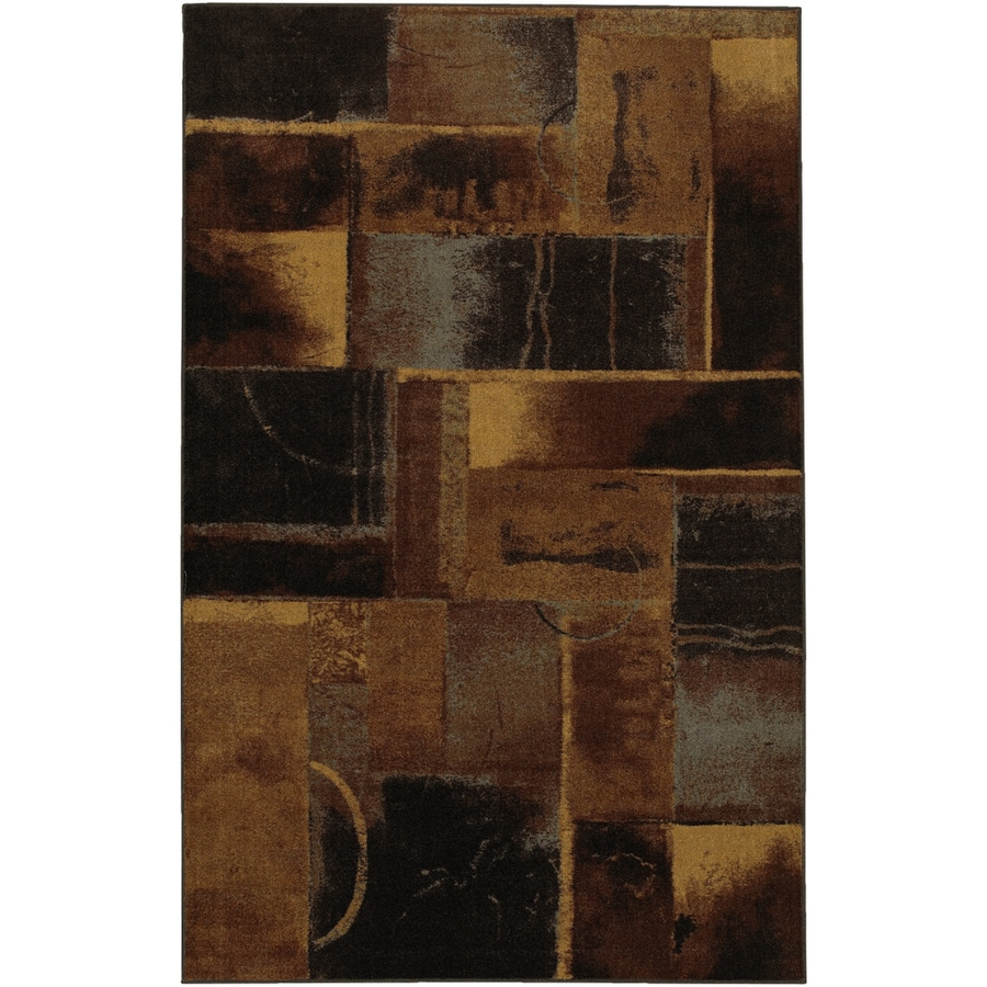 Mohawk Home Edgar Blocks 5-ft x 8-ft Rectangular Black Transitional Area Rug