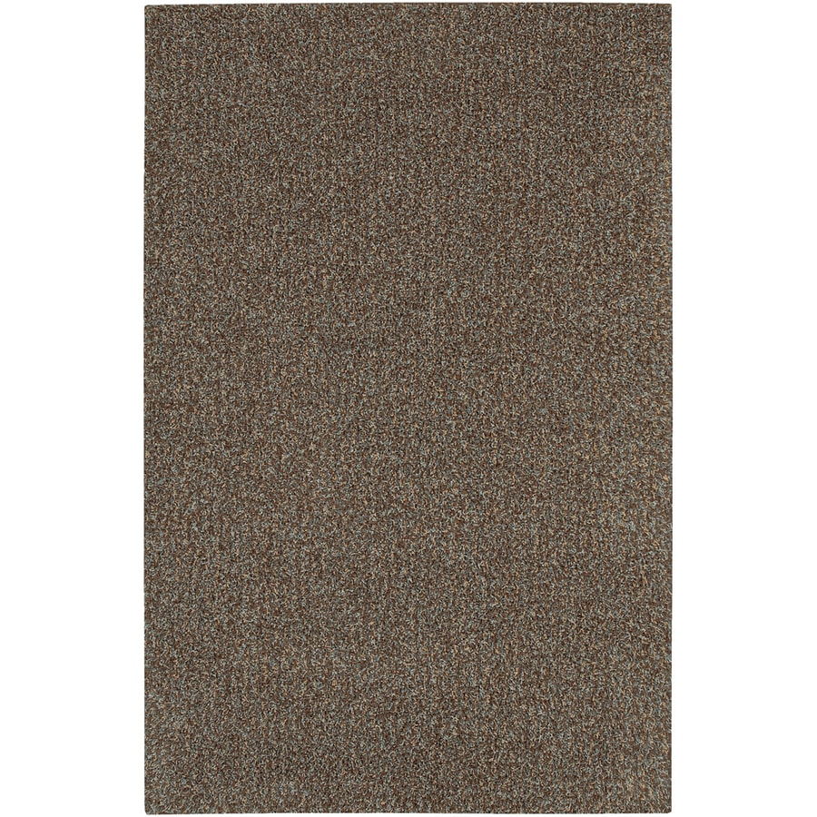 Mohawk Home Traverse Shag Rain 5-ft x 8-ft Rectangular Brown Transitional Area Rug