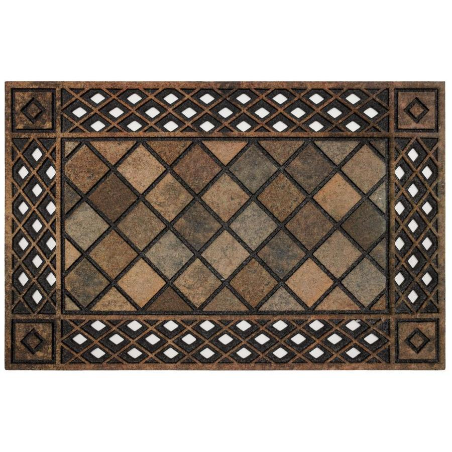 Style Selections Rectangular Door Mat (Common: 2 Ft X 3 Ft;
